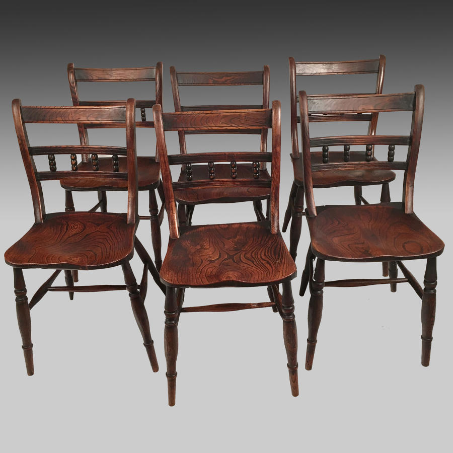 Set of nineteenth century Oxfordshire Windsor chairs