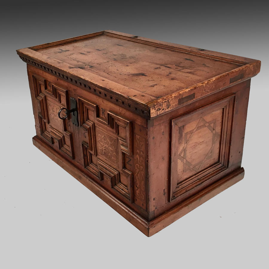 17th century Swiss dowry chest or coffre-fort
