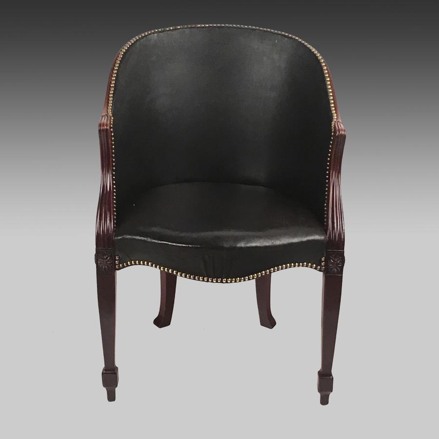 Georgian mahogany bergere armchair