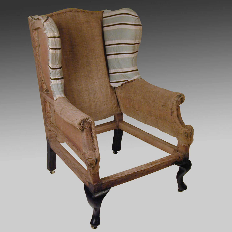 Georgian wing chair frame