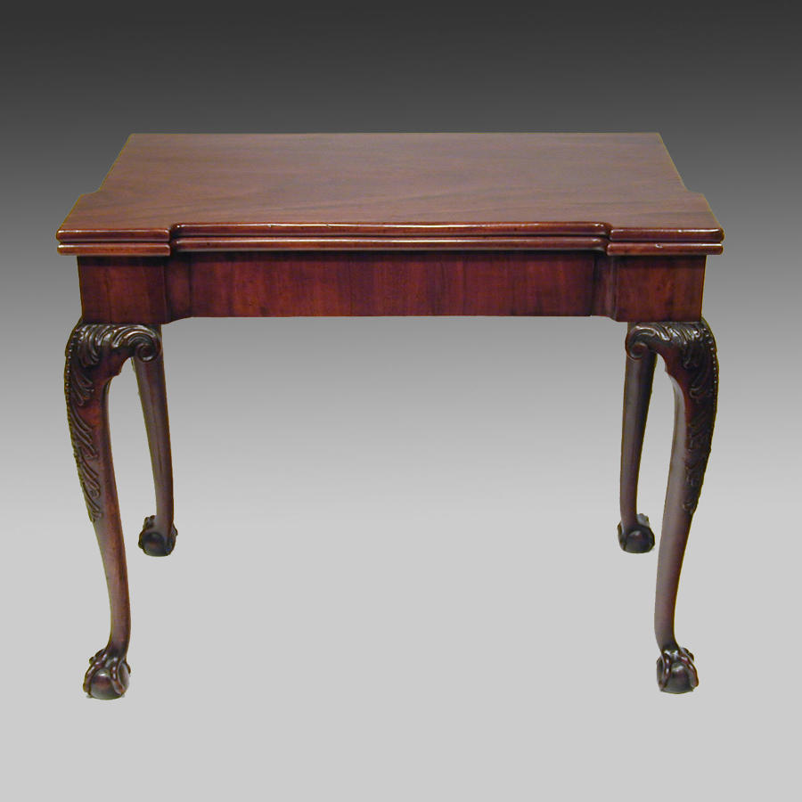 Fine 18th century Georgian mahogany games table