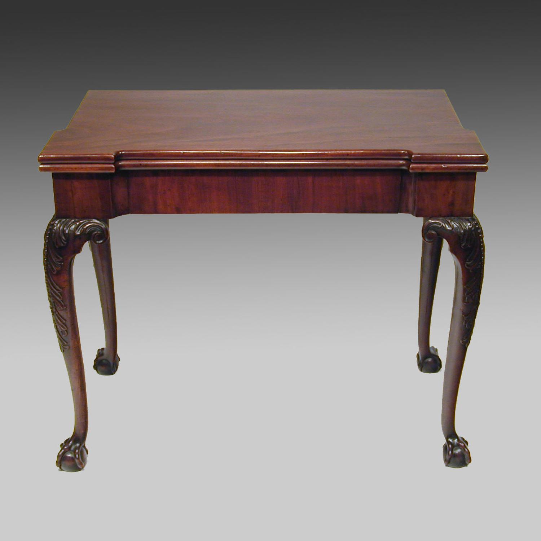 Fine 18th century Georgian mahogany games table