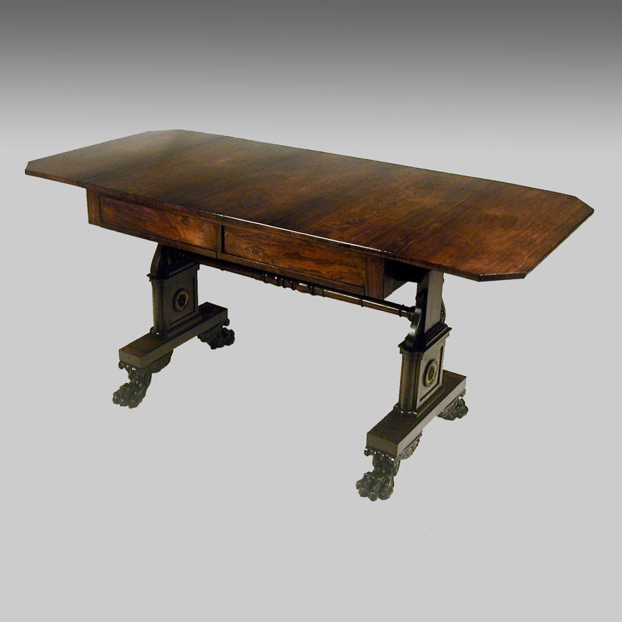 Regency rosewood sofa table