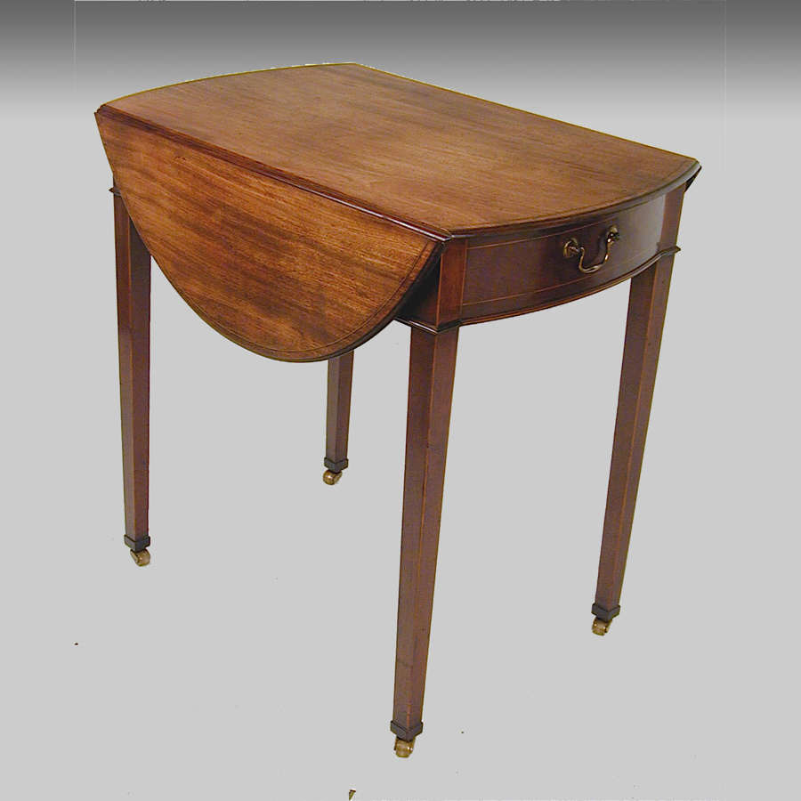 Georgian oval mahogany Pembroke table with secret strongbox drawer