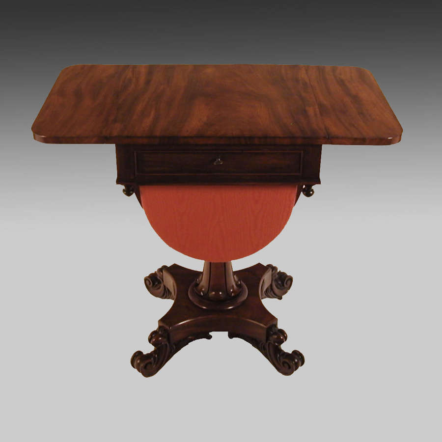 19th century mahogany Pembroke work table