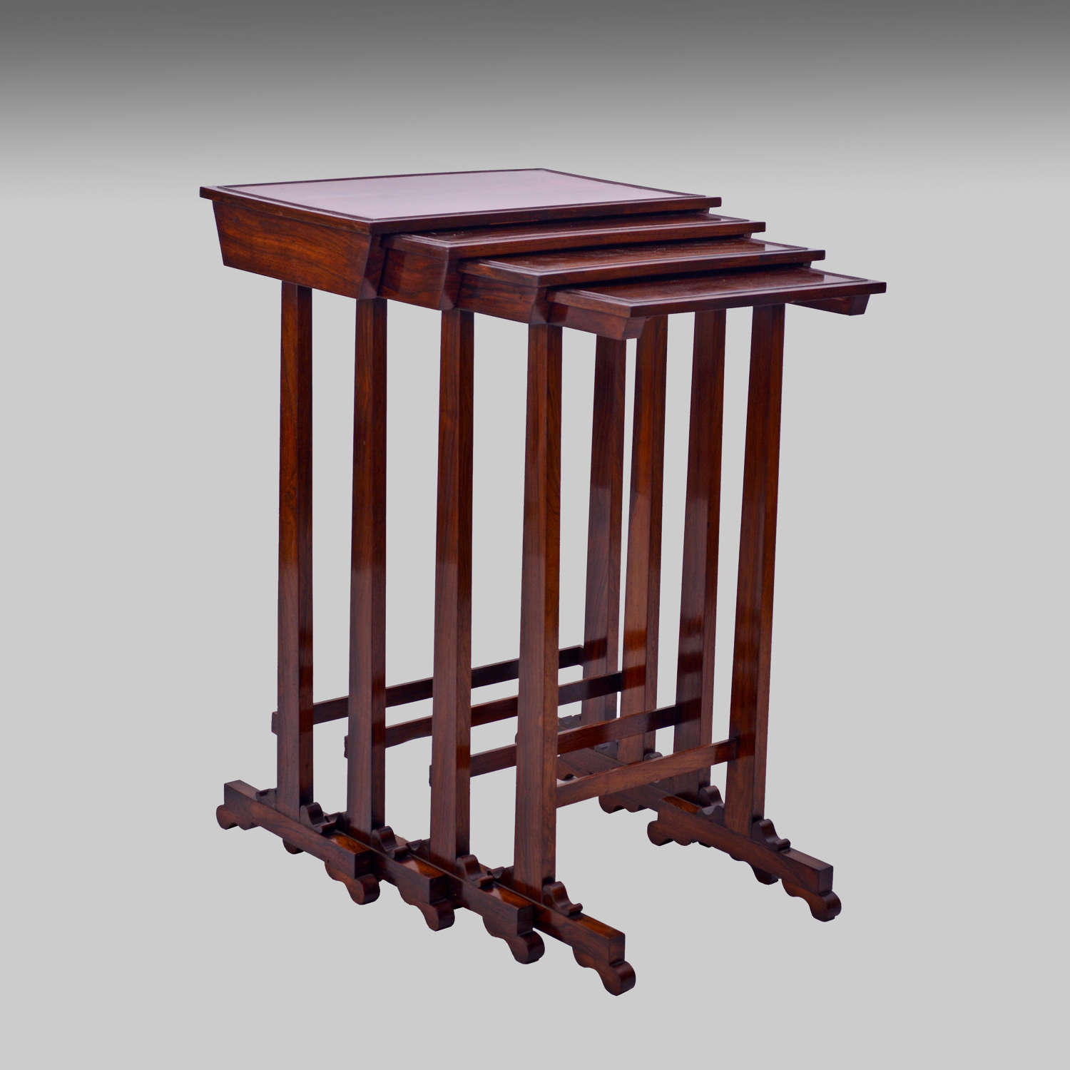 Regency rosewood quartetto tables