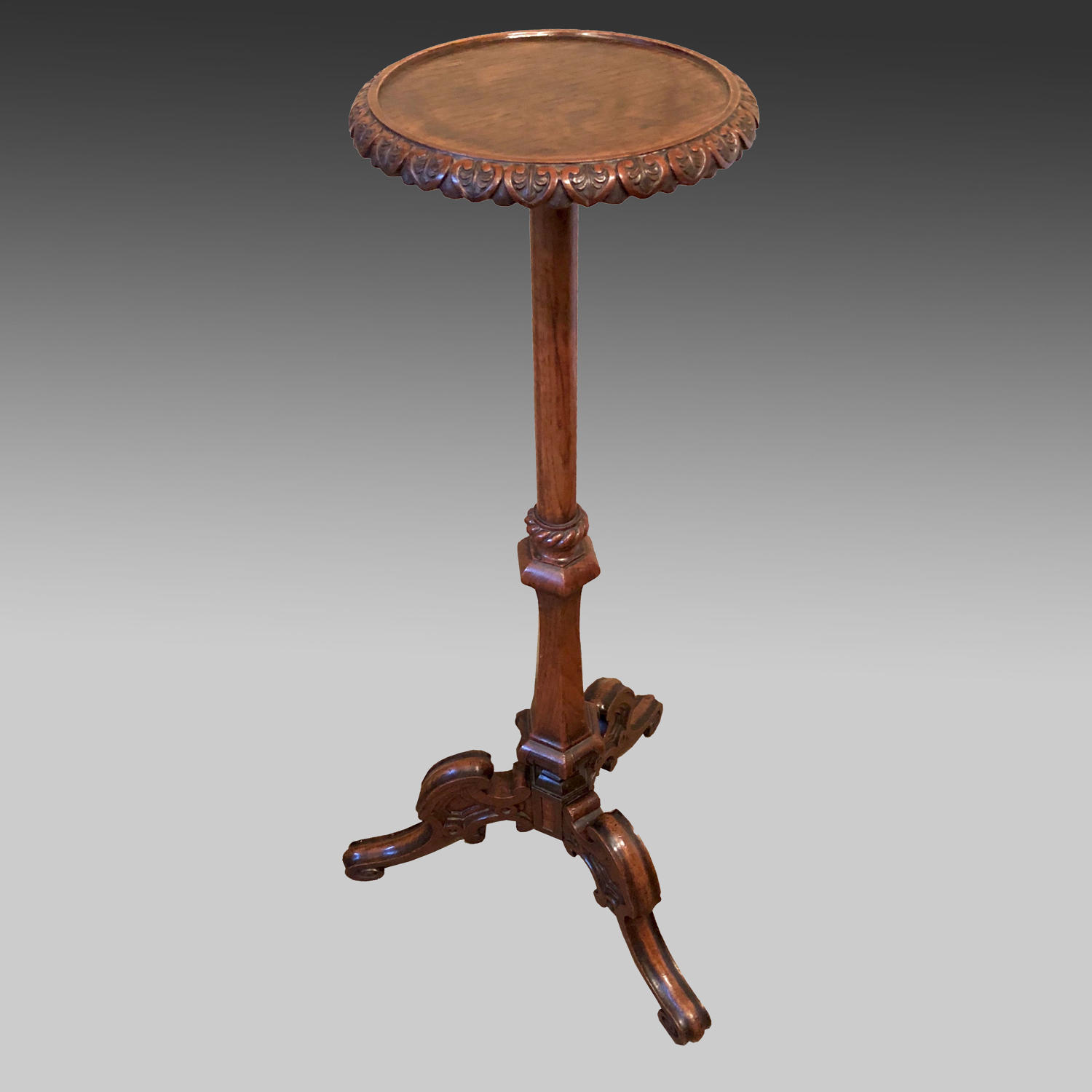 19th century oak torchere or candlestand