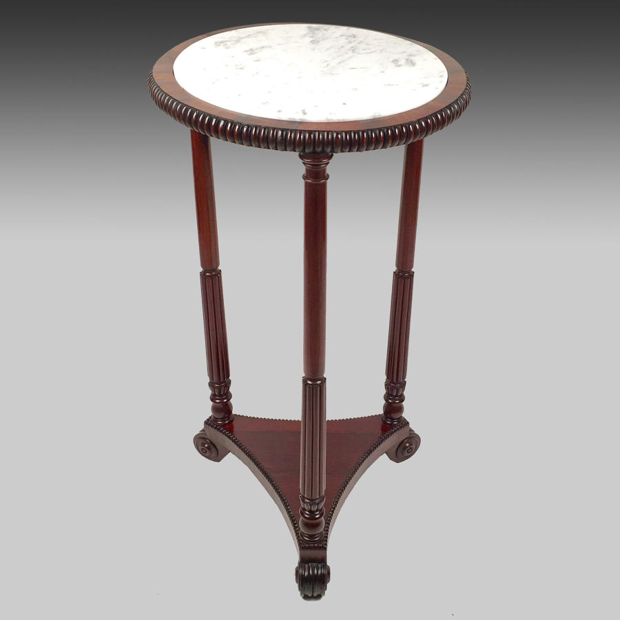 Regency rosewood and marble pedestal
