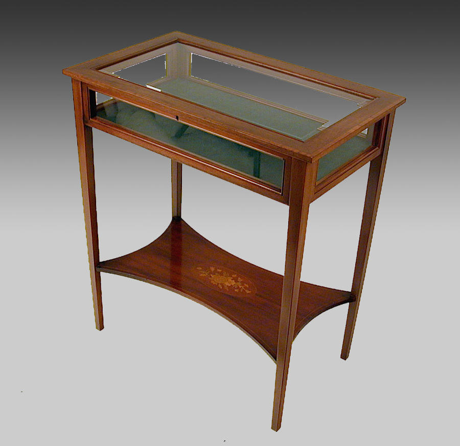 Edwardian, Sheraton style, mahogany display table