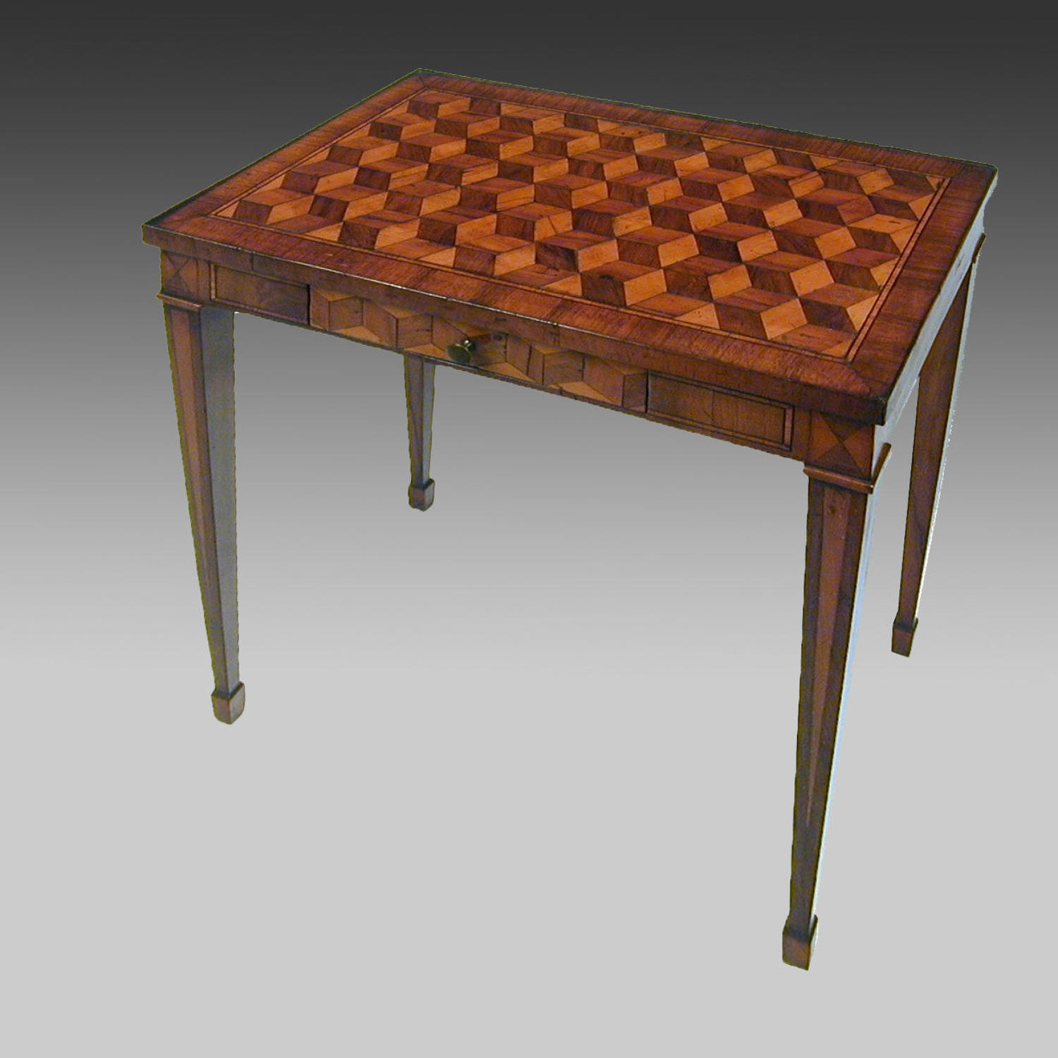 18th century continental parquetry centre table