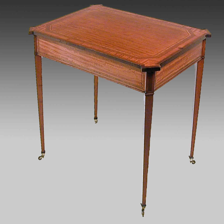 Edwardian satinwood centre table