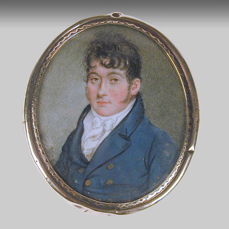 Regency miniature portrait of a gentleman