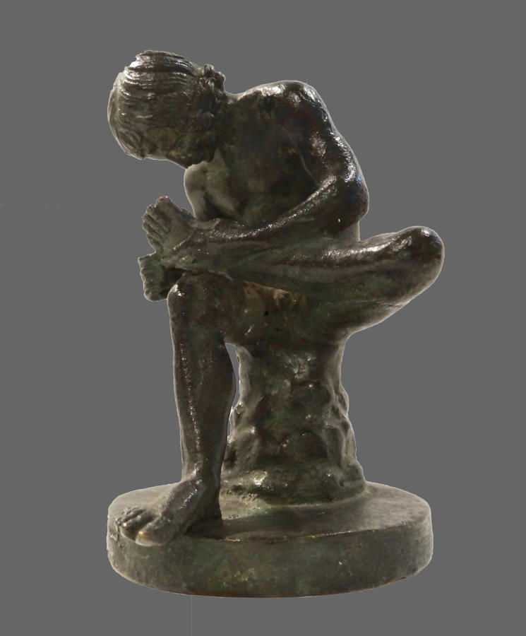 Small 19th century figure of Spinario