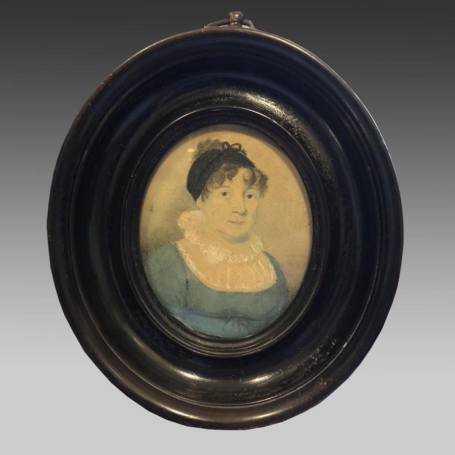 Regency oval miniature of a lady