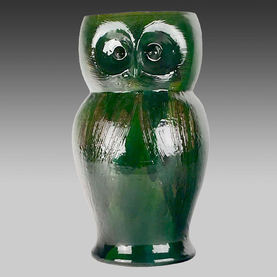 Arts & Crafts, Farnham Pottery owl umbrella stand