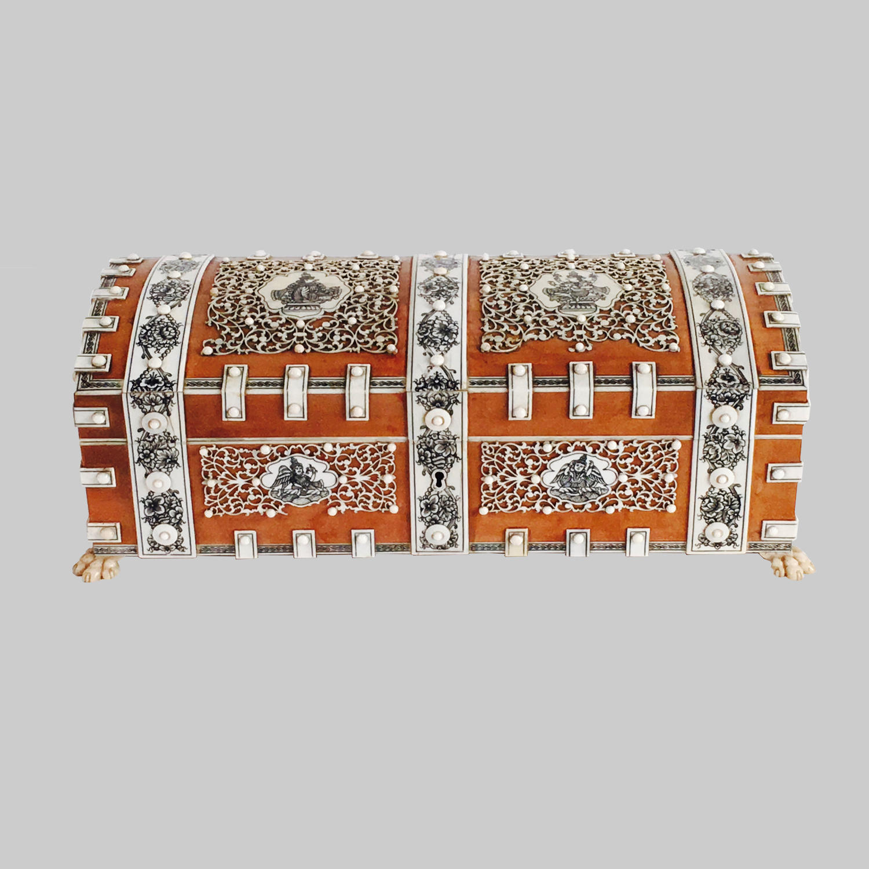 Vizagapatam sandalwood & ivory casket