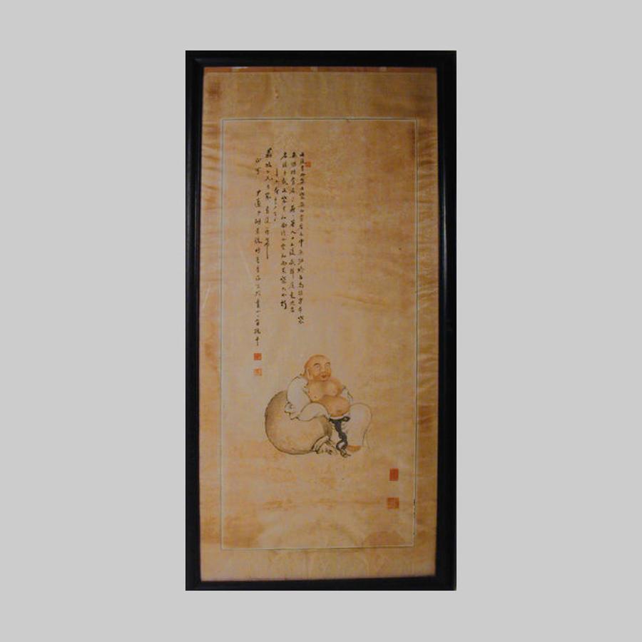Chinese hanging silk scroll
