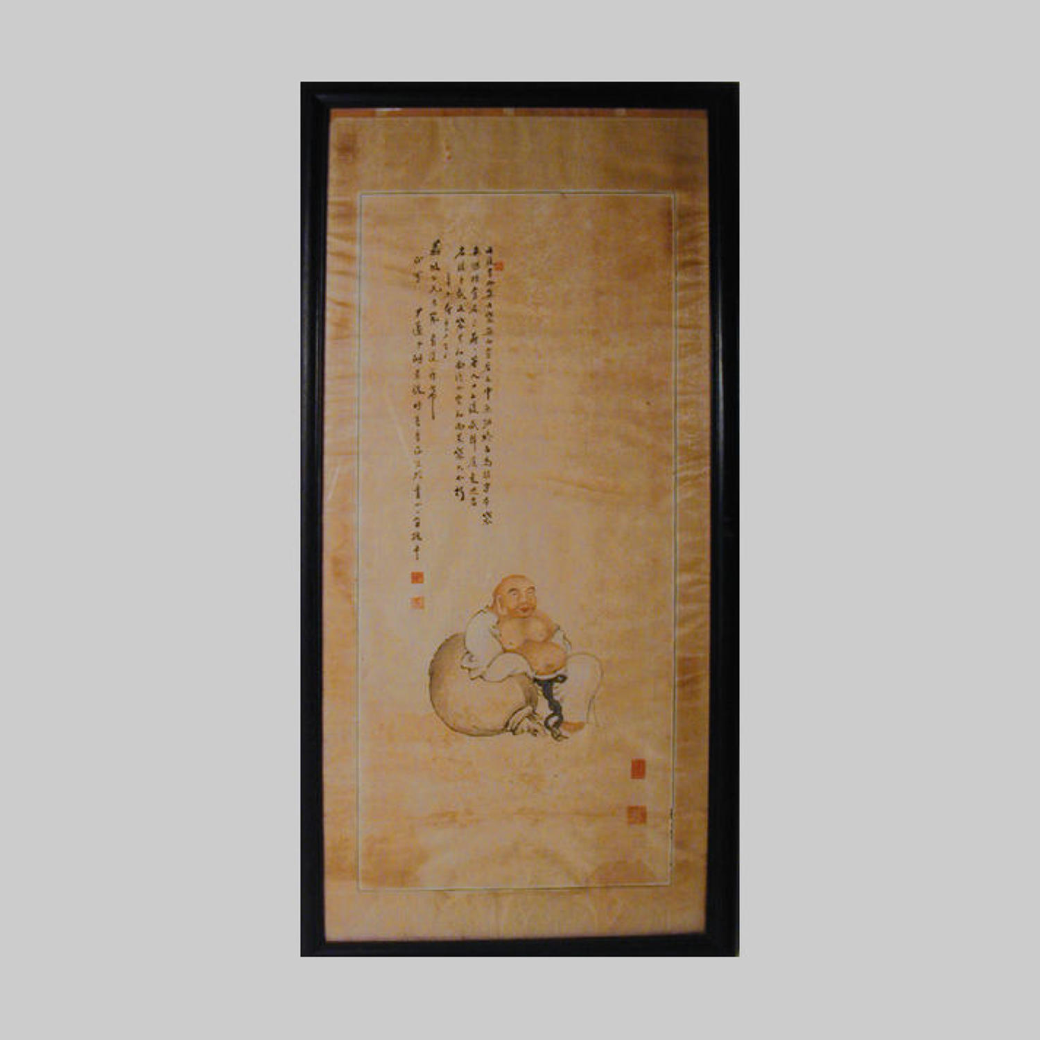 Chinese hanging silk scroll