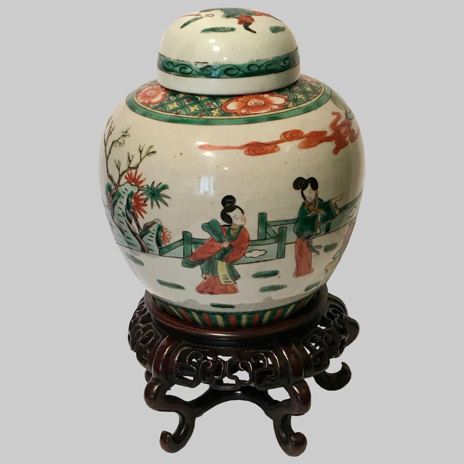 Chinese Export porcelain ginger jar