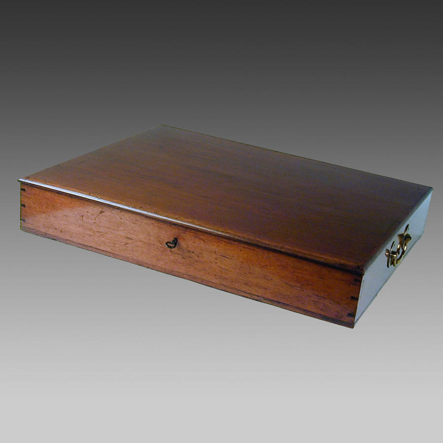 Georgian mahogany document box