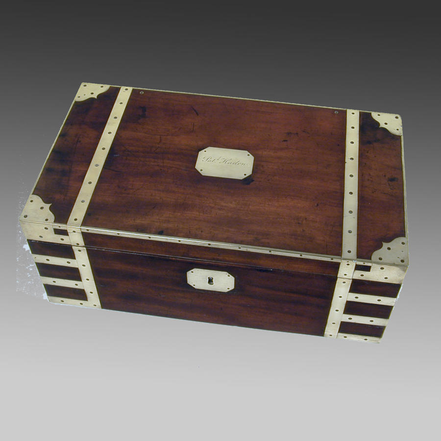 Georgian mahogany writing box
