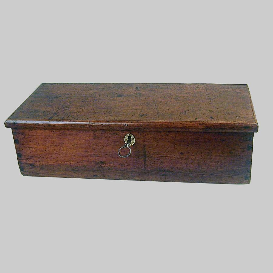 Georgian pine document box