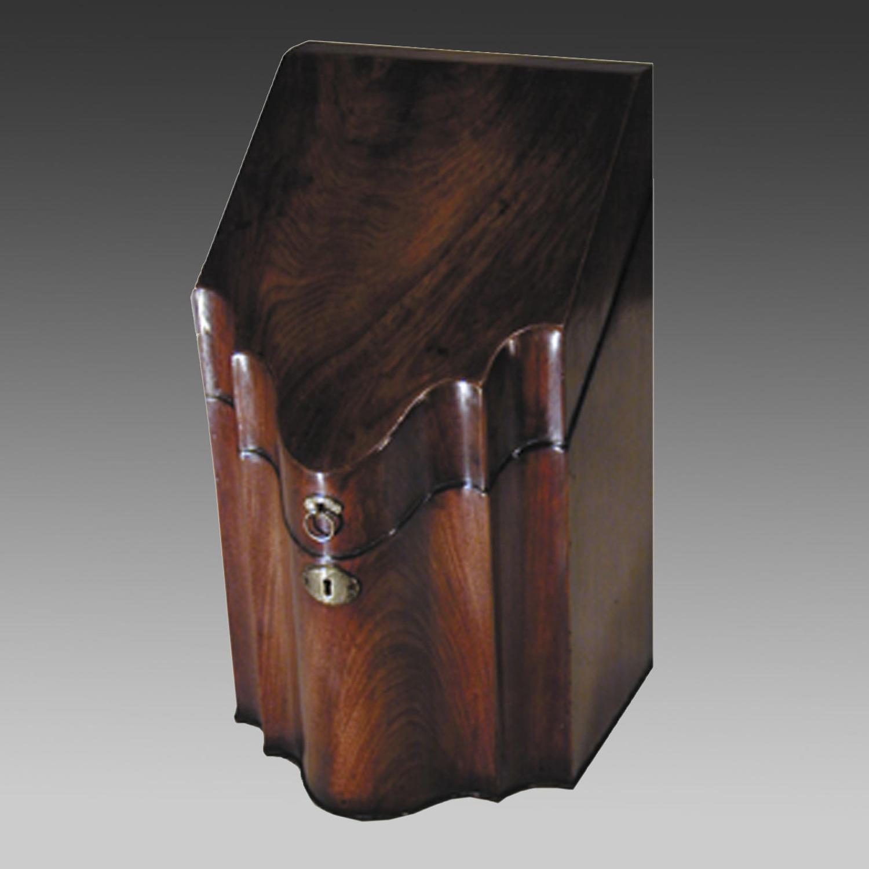 Sheraton mahogany cutlery box