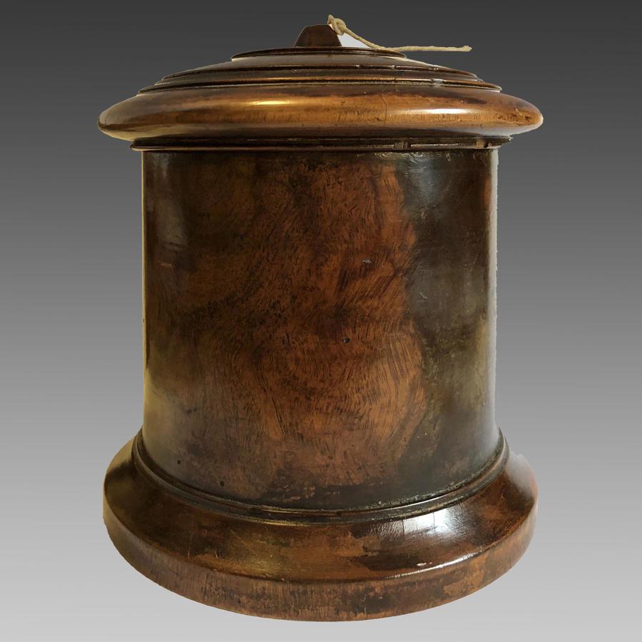 19th century lignum-vitae treen string box