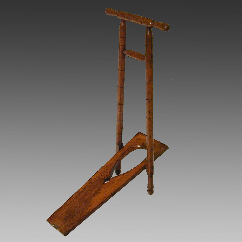 19th century mahogany bootjack