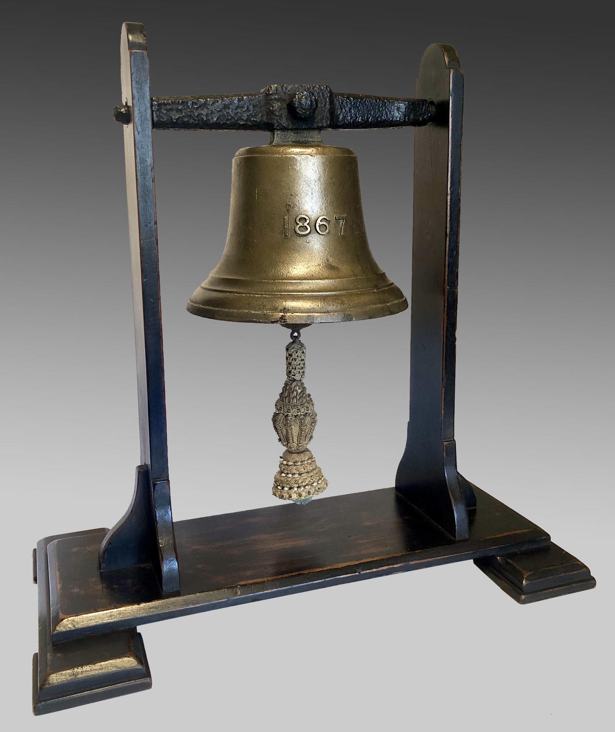 19th century cast bronze bell