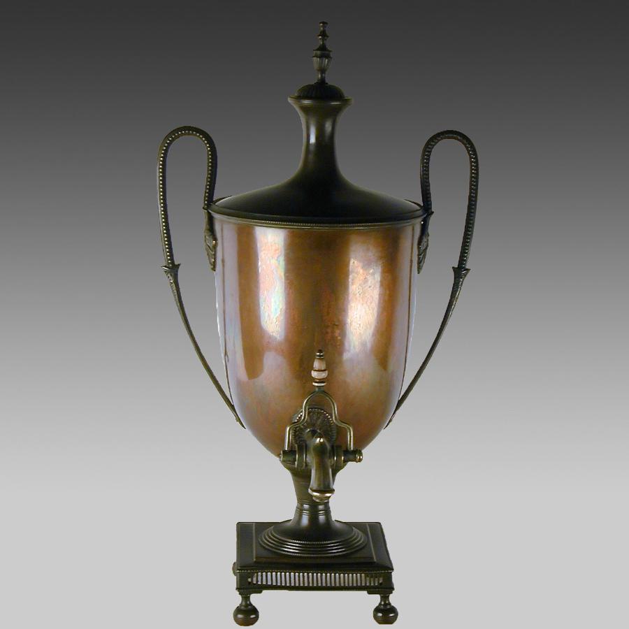 Antique Georgian copper samovar or tea urn