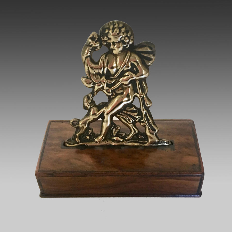 Georgian cast brass hunting figure