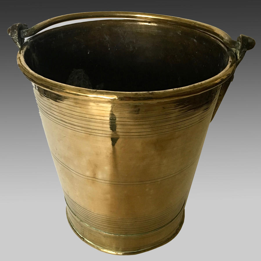 Late 19th century brass bucket