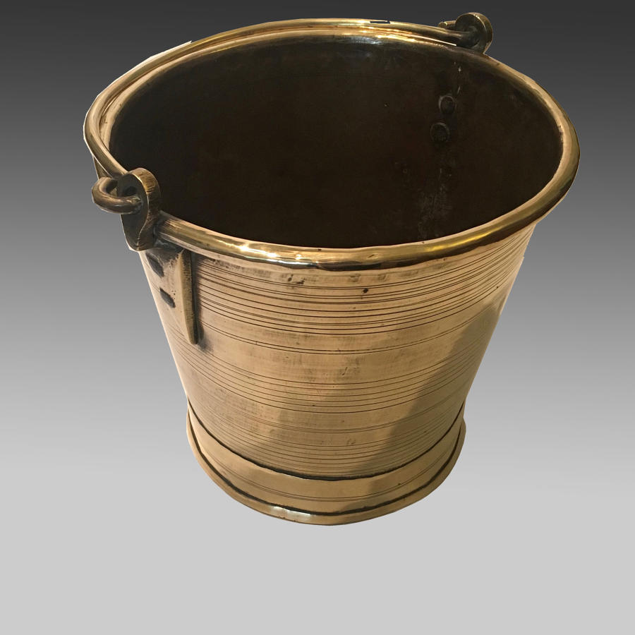 Late 19th century brass bucket