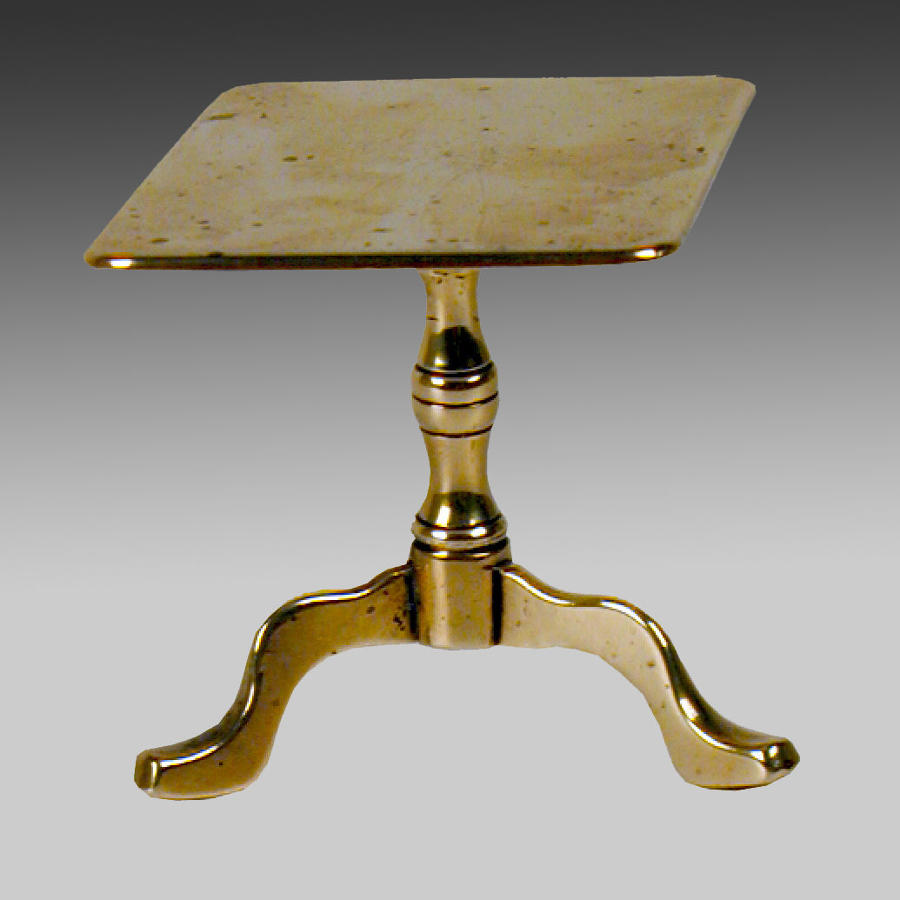 Georgian miniature brass tripod table