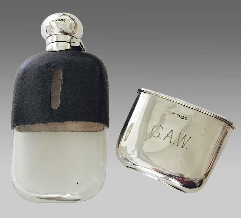 19th century James Dixon hip flask