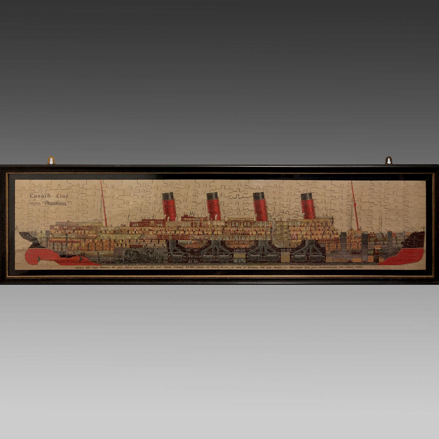 Vintage Chad Valley jigsaw of RMS 'Aquitania'