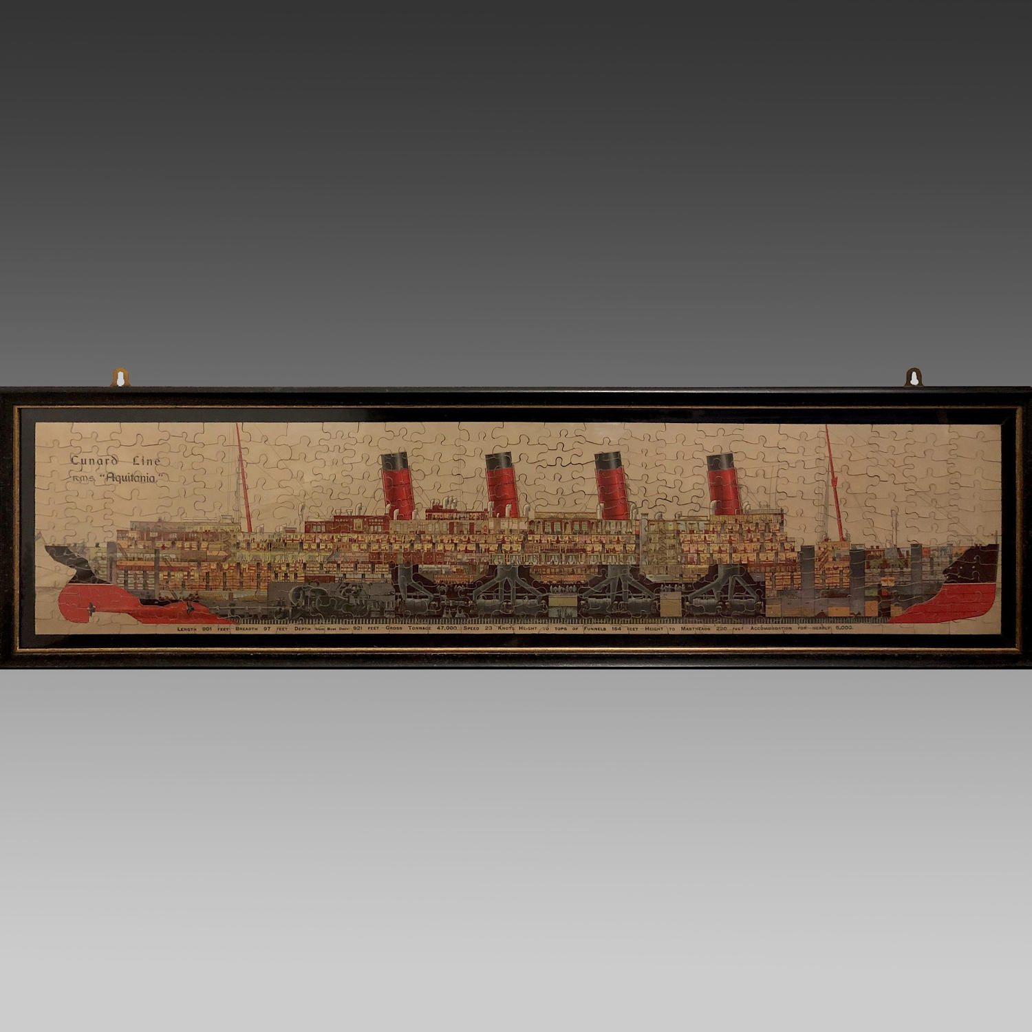 Vintage Chad Valley jigsaw of RMS 'Aquitania'