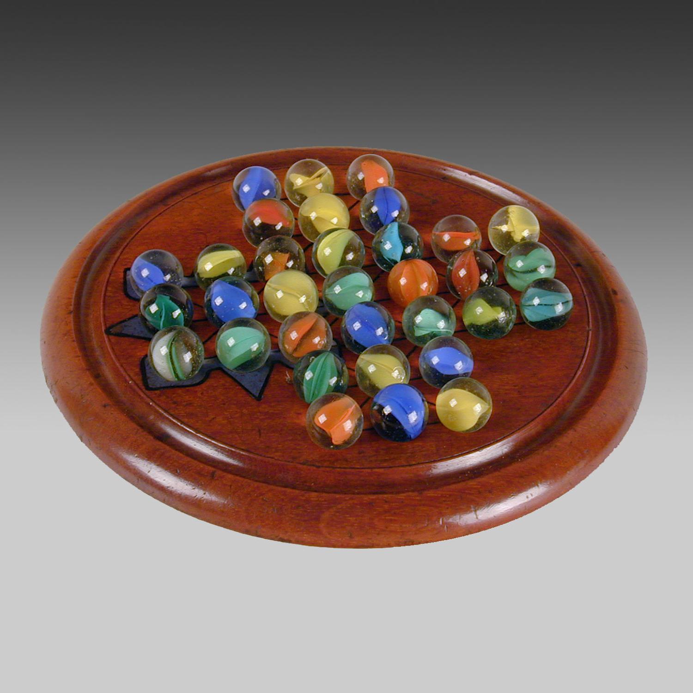 19th century mahogany solitaire board
