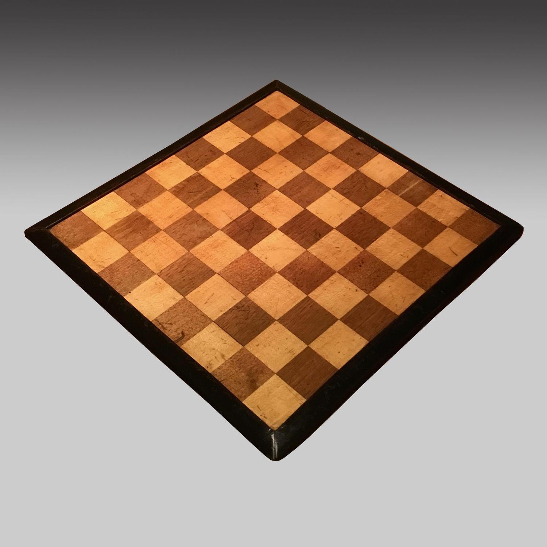 19th century portable chess board