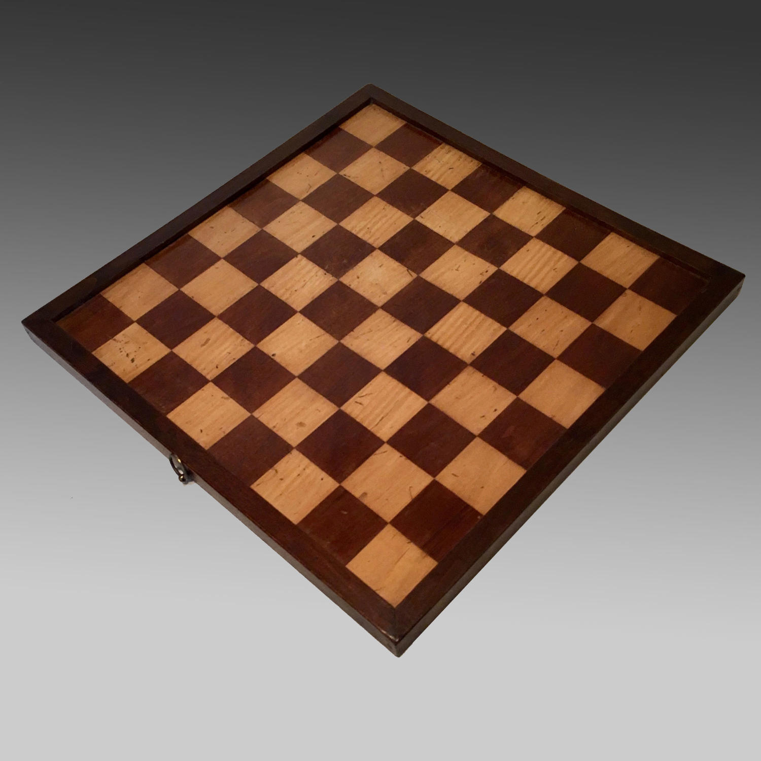 Late 19th century walnut framed games board