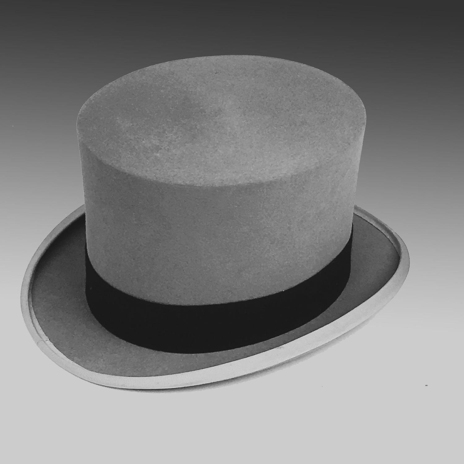 Vintage Ascot Grey top hat by Battersby & Co.