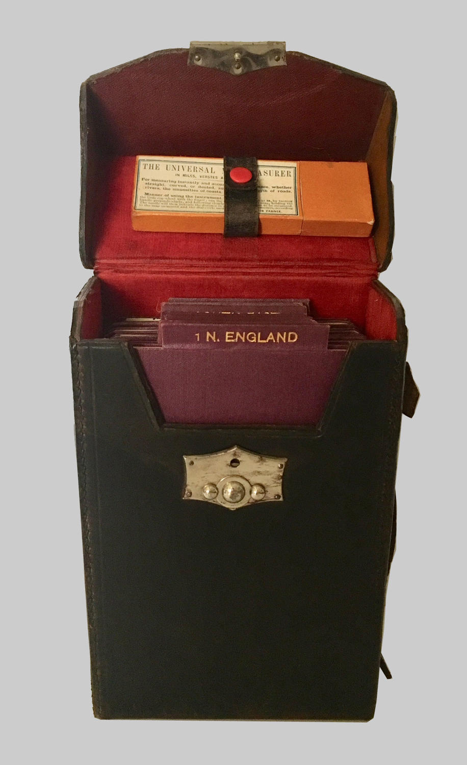 Cased set of Bacon's motor maps of England by G.W.Bacon