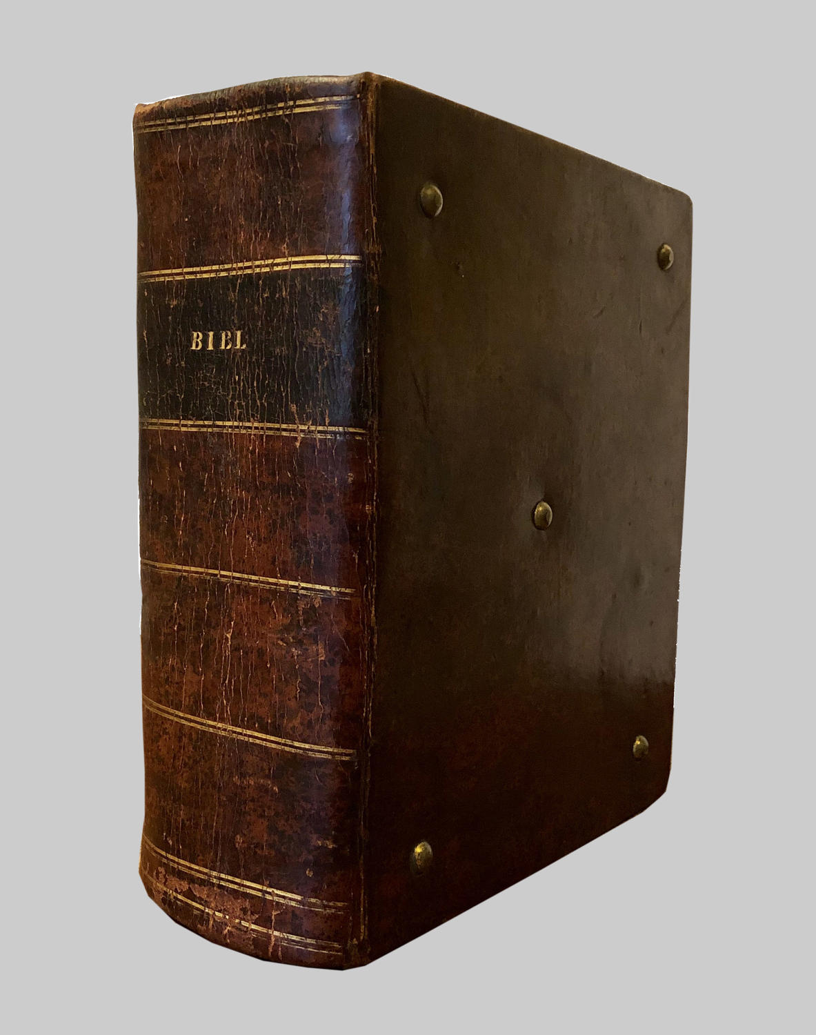 Rare & antiquarian books: L18th century leather bound Welsh 'Bibl'