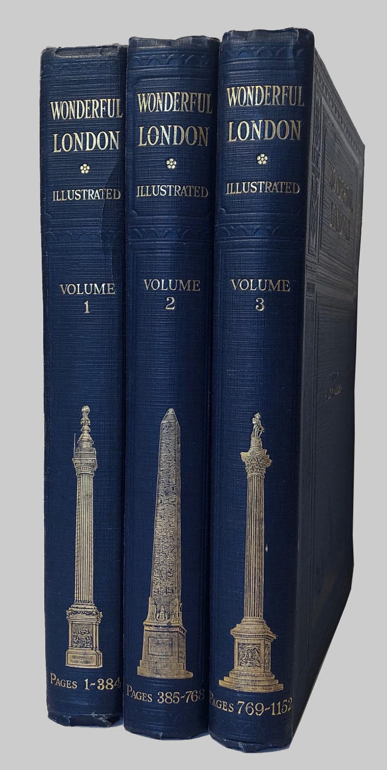 Three volumes of Wonderful London Illustrated