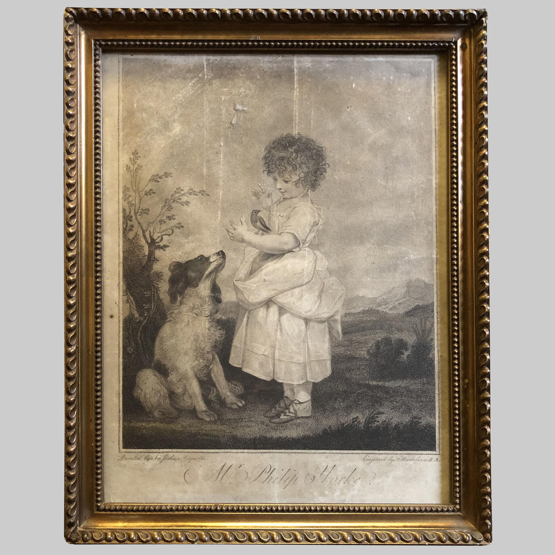 19th century stipple Engraving of Mr Philip Yorke