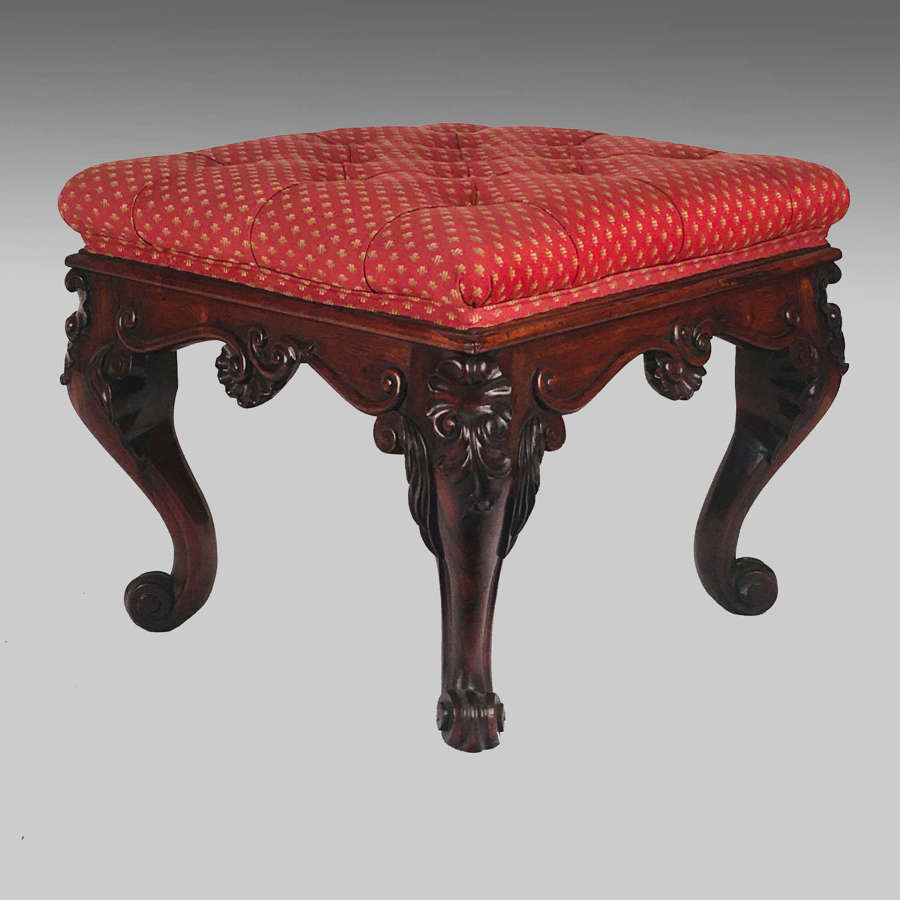 Anglo-Indian rosewood stool
