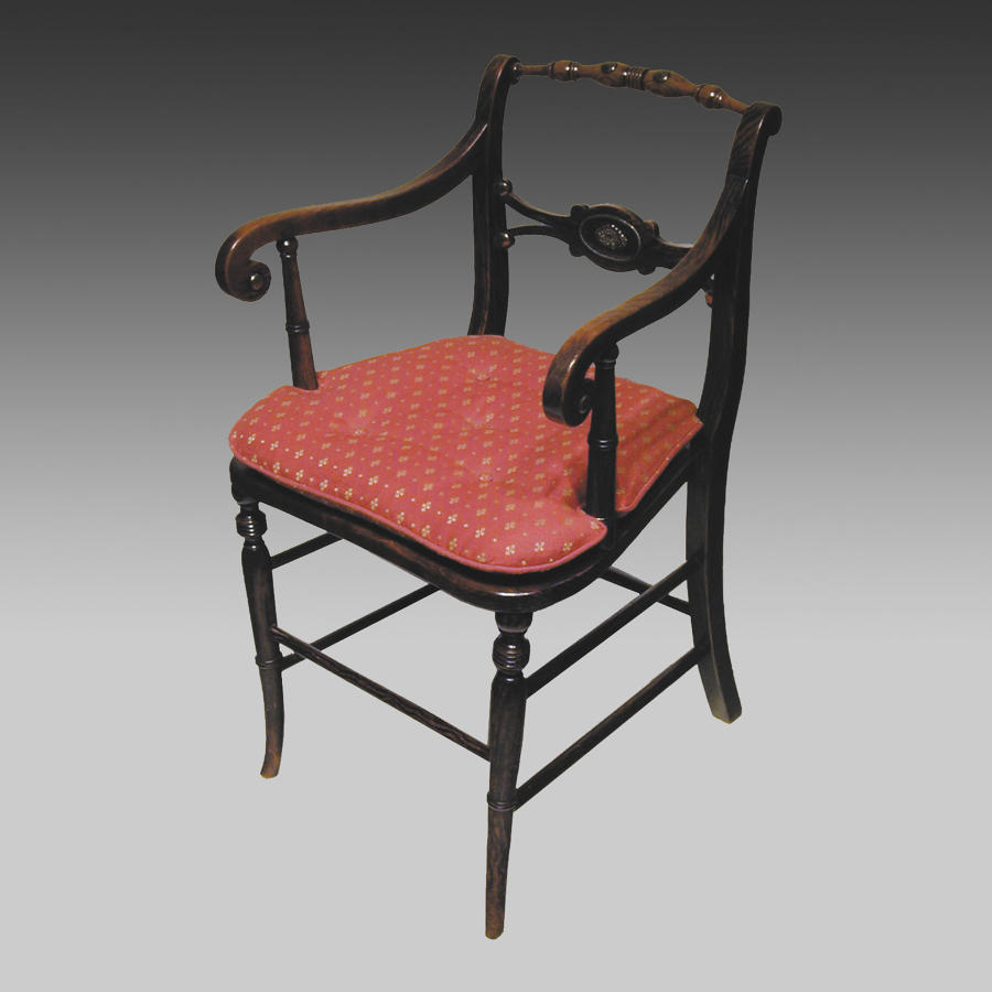 19th century simulated rosewood armchair