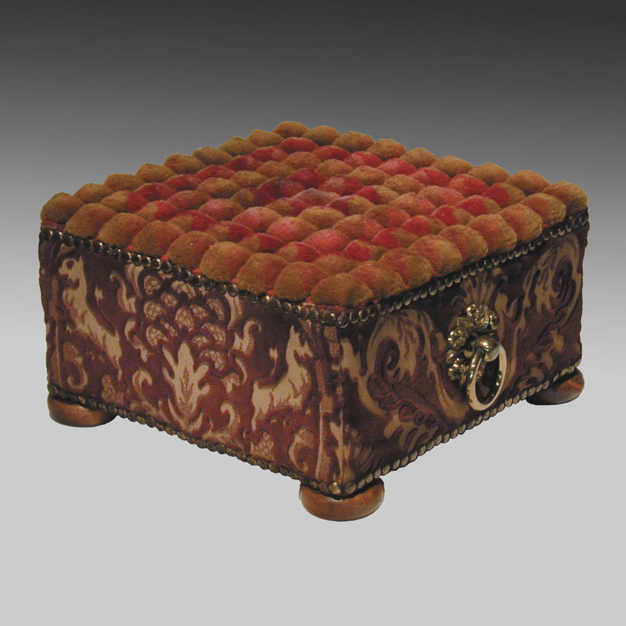 Antique Regency upholstered stool