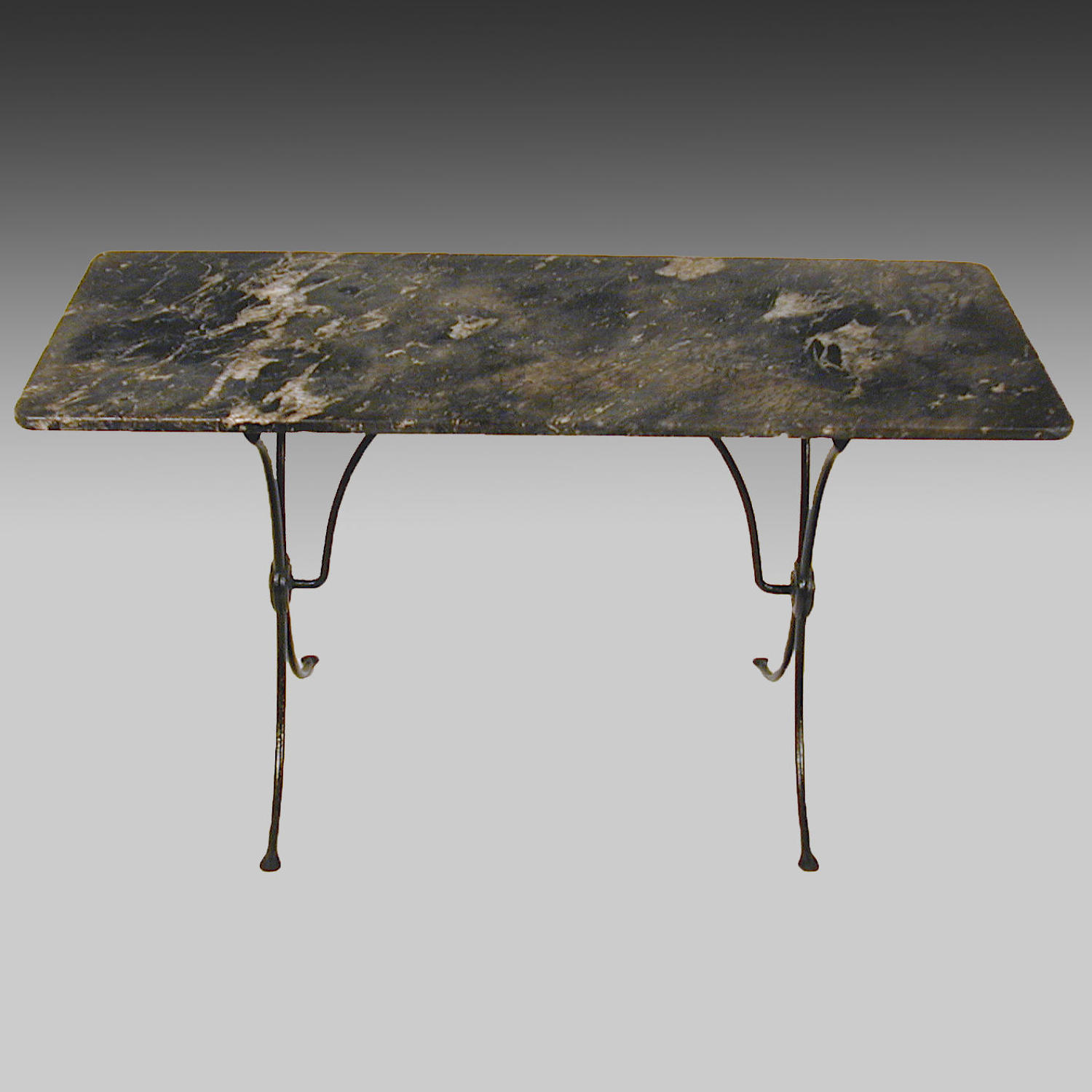 French marble-topped bistro table